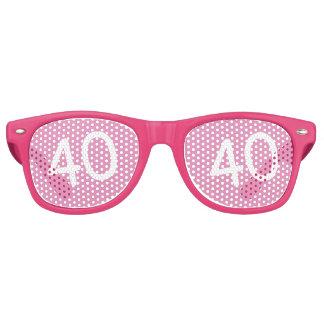 40 yr Bday Pink - 40th Birthday Wayfarer Sunglasses