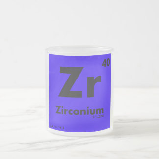 40 Zirconium | Periodic Table of Elements Frosted Glass Coffee Mug