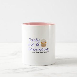 40FitFabulous2 Two-Tone Coffee Mug