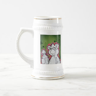 40OZ Beer Bear Stien Beer Stein