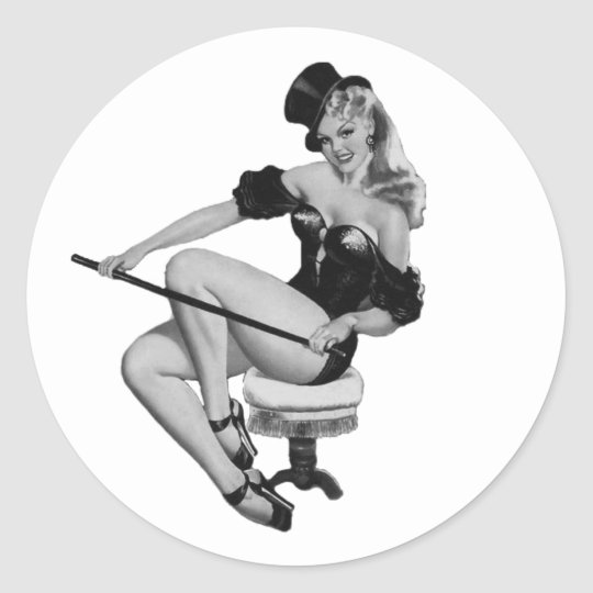 40's Pinup #2 Classic Round Sticker