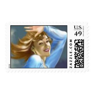 40's pinup Stamp
