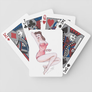 40's WWII bomber art pinup playing cards