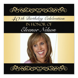 40th-49th Birthday Party Invitations With Photo