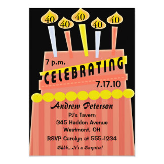 40th - 49th Birthday Party Personalized Invitation
