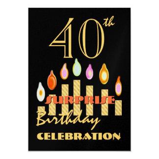 40th - 49th SURPRISE Birthday Party Invitation
