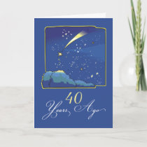 40th Adoption Anniversary with Stars and Night Sky Card