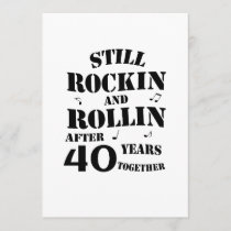 40th Anniversary - 40 Years Anniversary Couples Card
