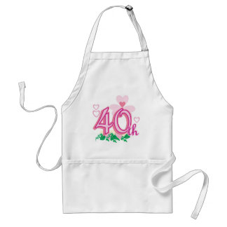 40th anniversary adult apron