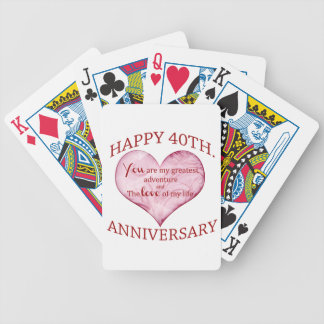 40th. Anniversary Bicycle Playing Cards