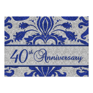 40th Anniversary Business Announcement Blue