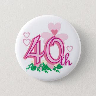 40th anniversary button
