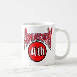 40th anniversary coffee mug