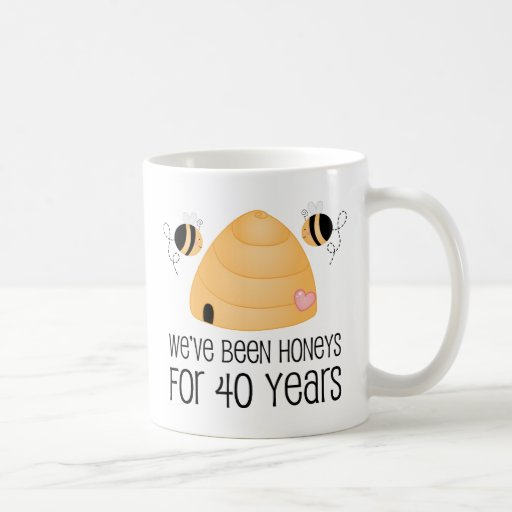 Wedding Gifts For Couples Over 40 : 40th Anniversary Couple Gift Classic White Coffee Mug Zazzle