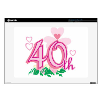 """40th anniversary decal for 15"""" laptop"""
