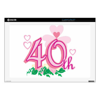 """40th anniversary decal for 17"""" laptop"""