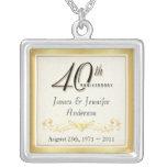 40th Anniversary Elegant Keepsake Pendant