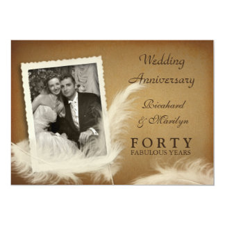 40th Anniversary Fancy Vintage Photo Invitations