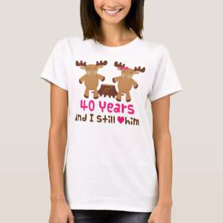 40th Anniversary Gift For Her T-Shirt
