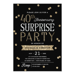 40th anniversary invitations zazzle
