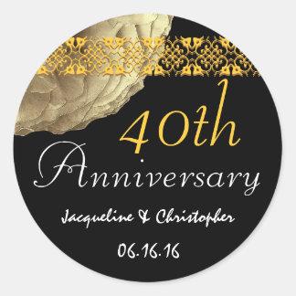 40th Anniversary GOLD Rose Sticker