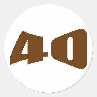 40th Anniversary Invitation Classic Round Sticker