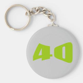 40th Anniversary Invitation Keychain