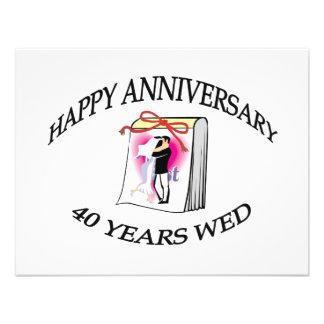 40th. ANNIVERSARY Invitations