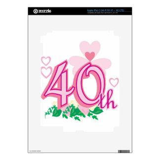 40th anniversary iPad 3 decals