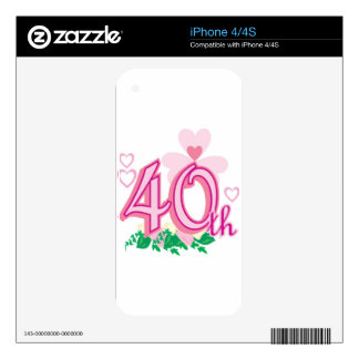 40th anniversary iPhone 4 decals