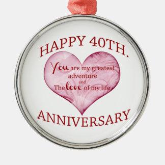 40th. Anniversary Metal Ornament