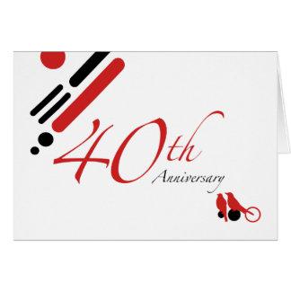 40th Anniversary (mod birds) Card