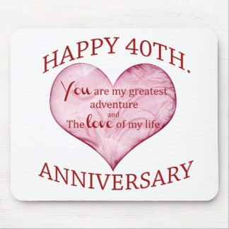 40th. Anniversary Mouse Pad