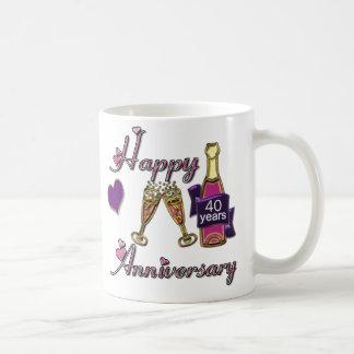 40th. Anniversary Classic White Coffee Mug