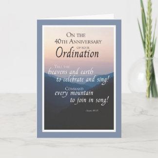 40th Anniversary of Ordination Congratulations Card