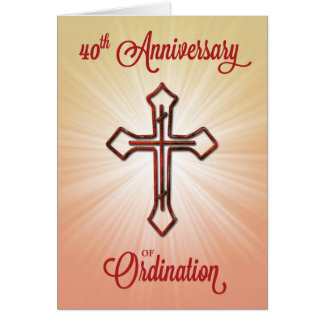 40th Anniversary of Ordination, Ruby Cross Card