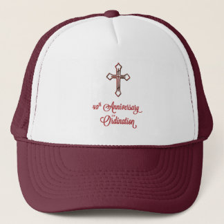 40th Anniversary of Ordination, Ruby Cross on Star Trucker Hat