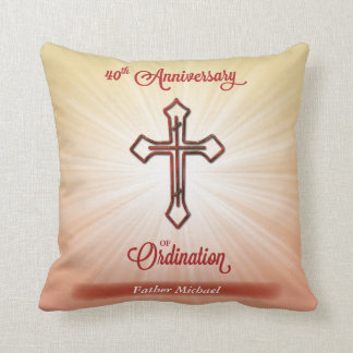 40th Anniversary of Ordination, Square Gift Throw Pillow