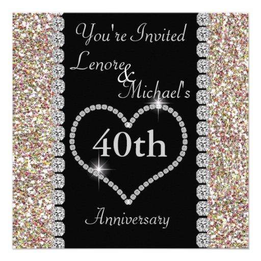 40th Anniversary Party Invitation