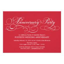 40th Anniversary | Party Invitation