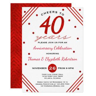 40th Anniversary Party Invitation, Ruby Invitation