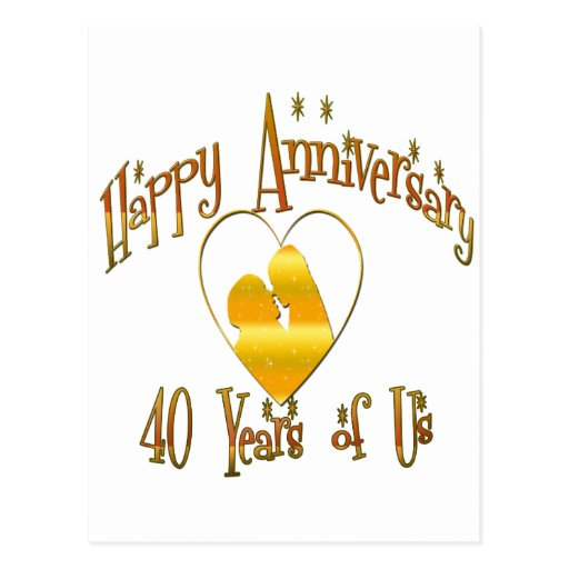 40th. Anniversary Postcard