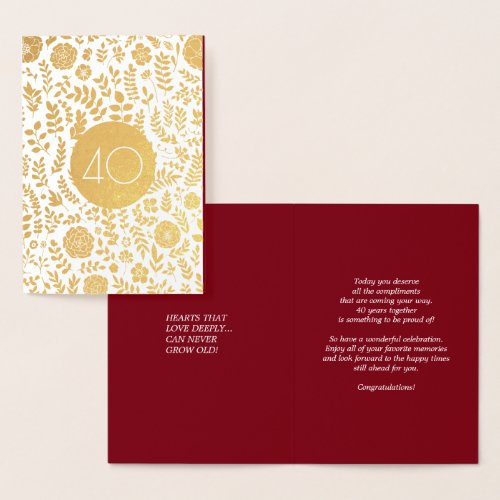 40th Anniversary Real Foil Luxury Cards