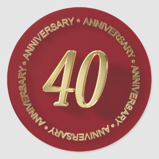 40th anniversary red wax seal