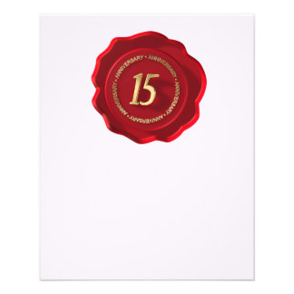 40th anniversary red wax seal flyer