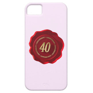 40th anniversary red wax seal iPhone SE/5/5s case