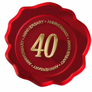 40th anniversary red wax seal photo cut outs