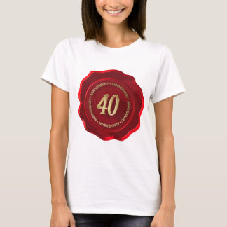 40th anniversary red wax seal T-Shirt