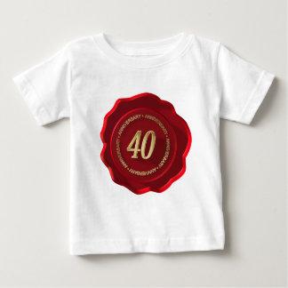 40th anniversary red wax seal t shirts