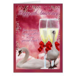 40th Anniversary - Ruby Anniversary Greeting Card